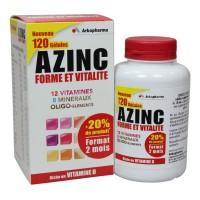 AZinc forme et vitalité adultes boîte de 120 gélules