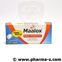 Maalox Maux d'Estomac Cpr Citron sans sucre bte de 40