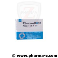 Pharmadose Alcool 2,5 ml compresses