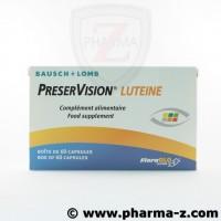 PréserVision Lutéine  Boite de 60 capsules.