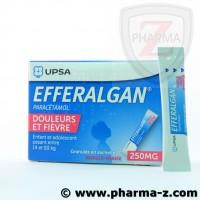 Efferalgan 250 mg (enfant entre 14 et 50kg) gout vanille-fraise