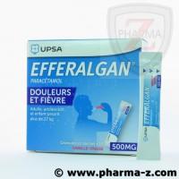 Efferalgan 500 mg (adulte et enfant pesant plus de 27kg) goute vanille-fraise