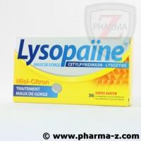 Lysopaine sans sucre gout miel-citron