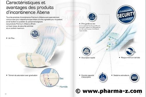 caractéristique gamme incontinence abena frantex pharma-z
